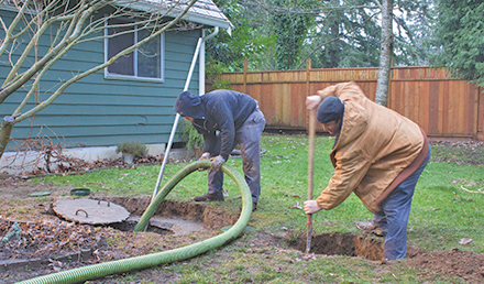septic system digging